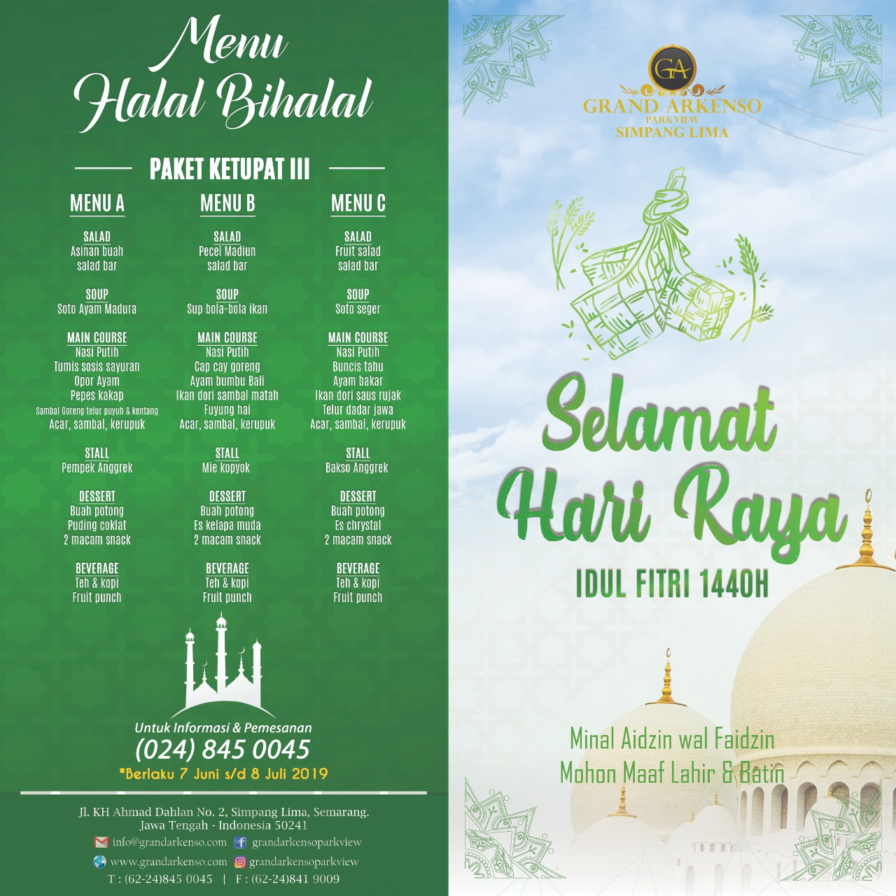 Halal Bihalal Package By Grand Arkenso